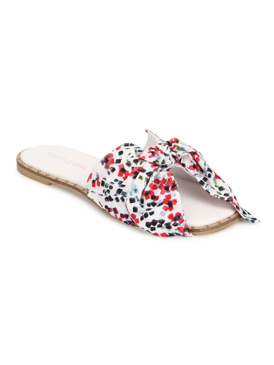 Truffle Collection | Truffle Collection Multicolor Floral Bow Slip Ons