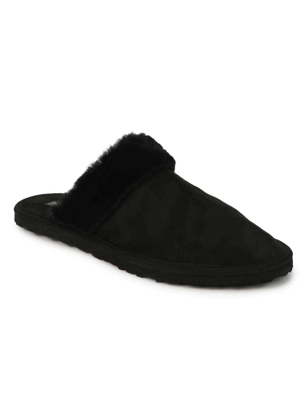 Truffle Collection | Black Micro Fuzzy Slip Ons