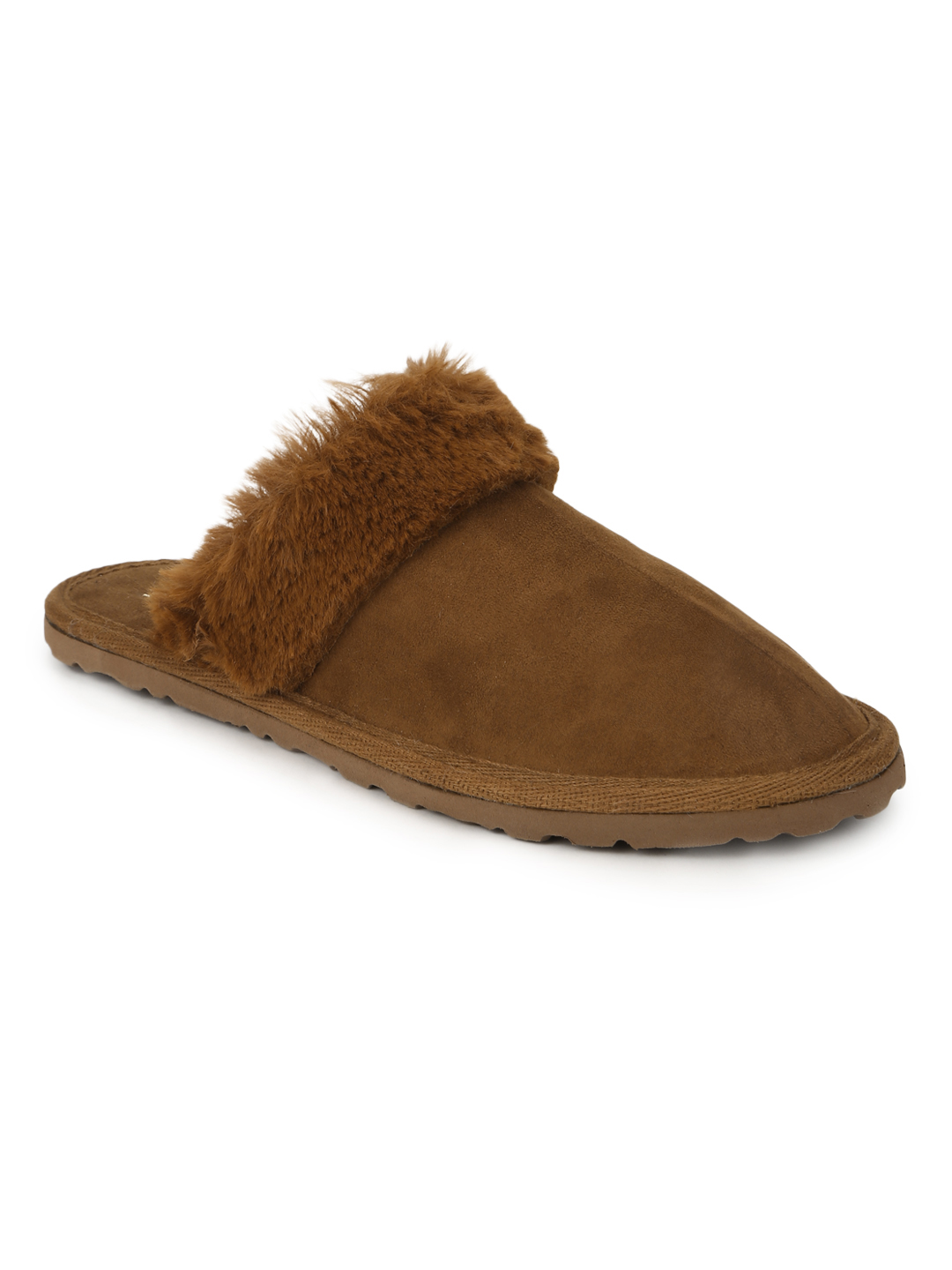 Truffle Collection | Tan Micro Fuzzy Slip Ons