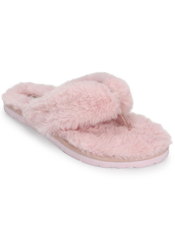 Truffle Collection | Pink Fur Flip Flops