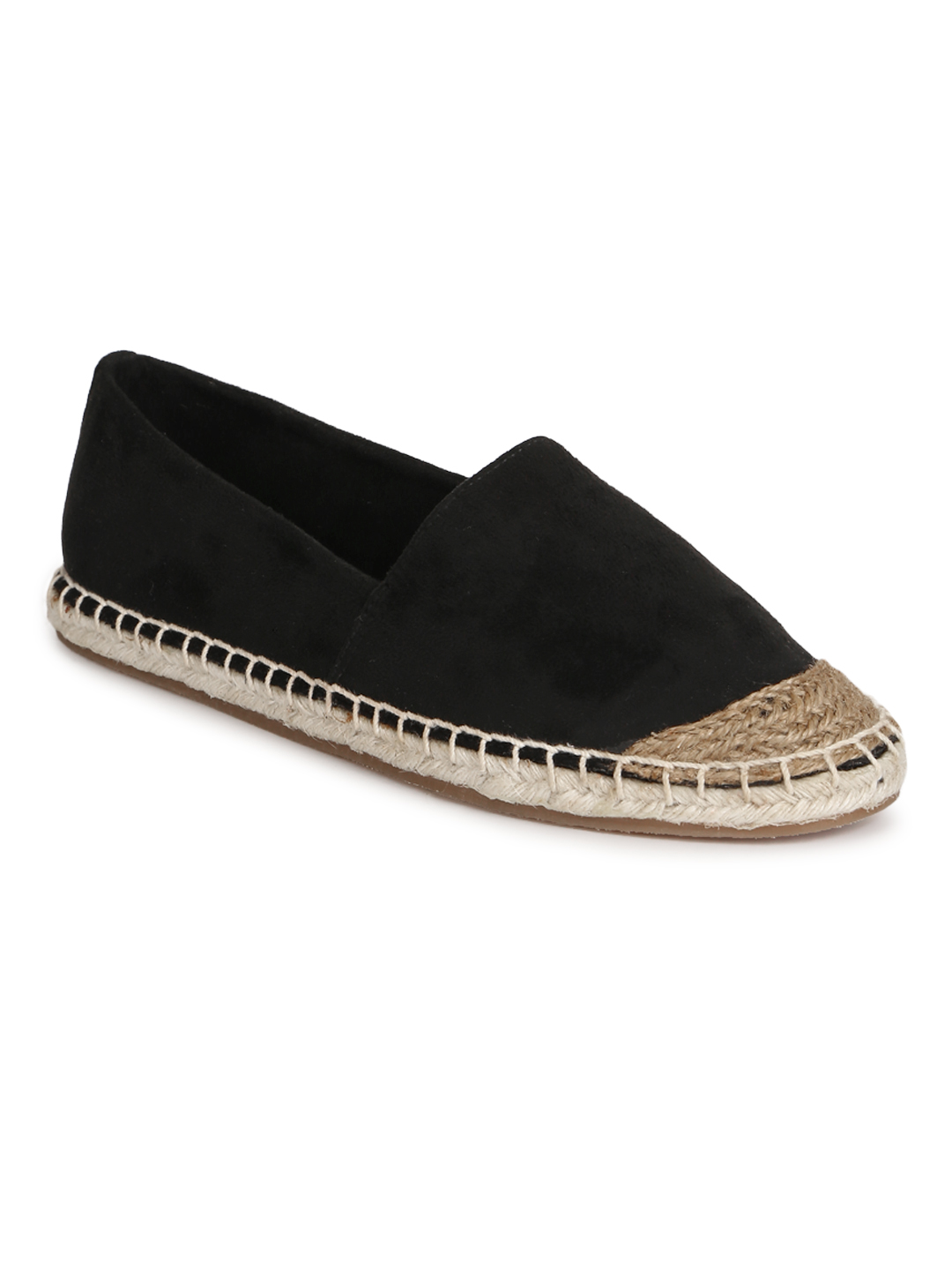 Truffle Collection   Truffle Collection Black Micro Slip On Shoes