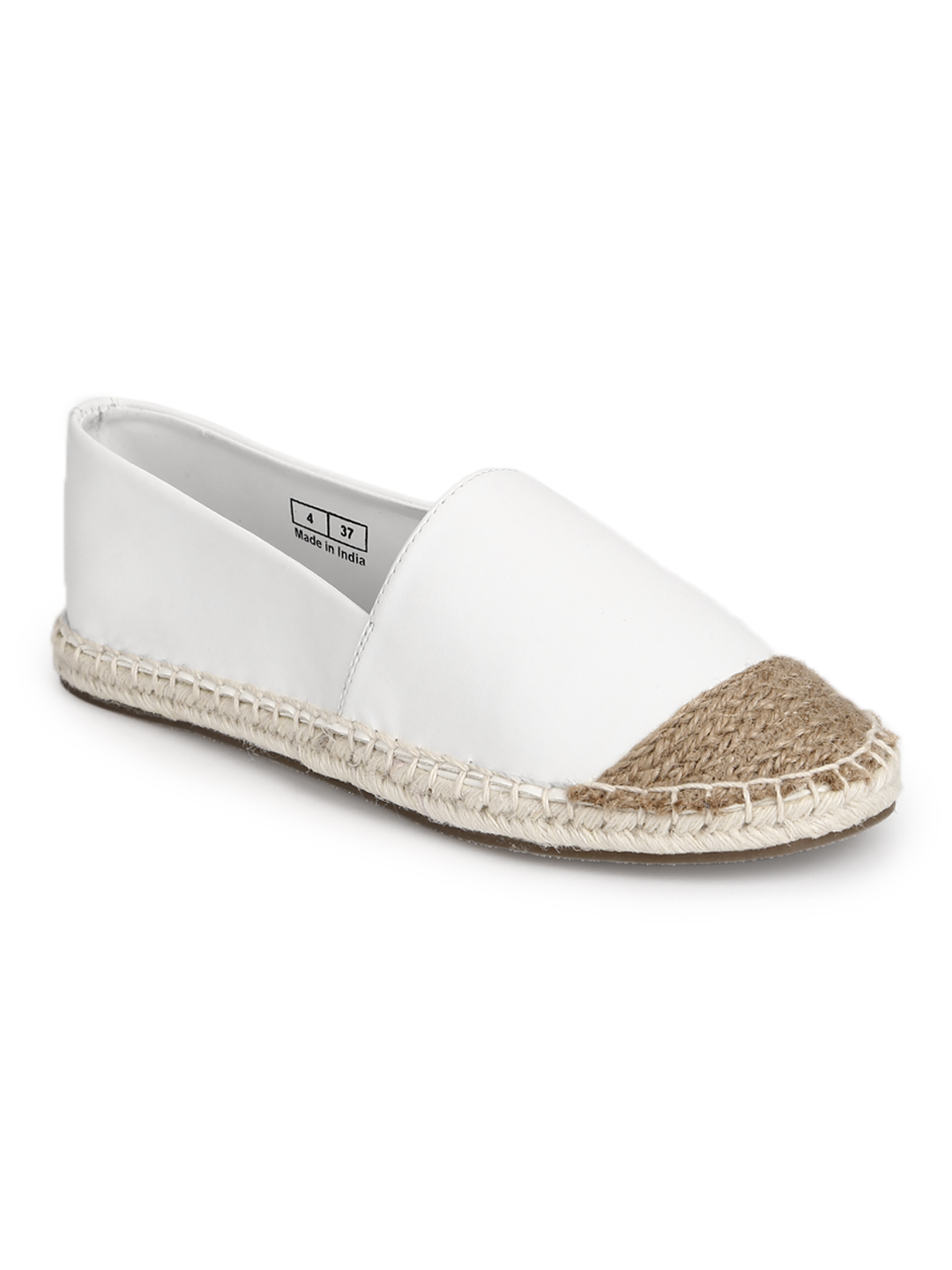 Truffle Collection   Truffle Collection White Canvas Slip On Shoes
