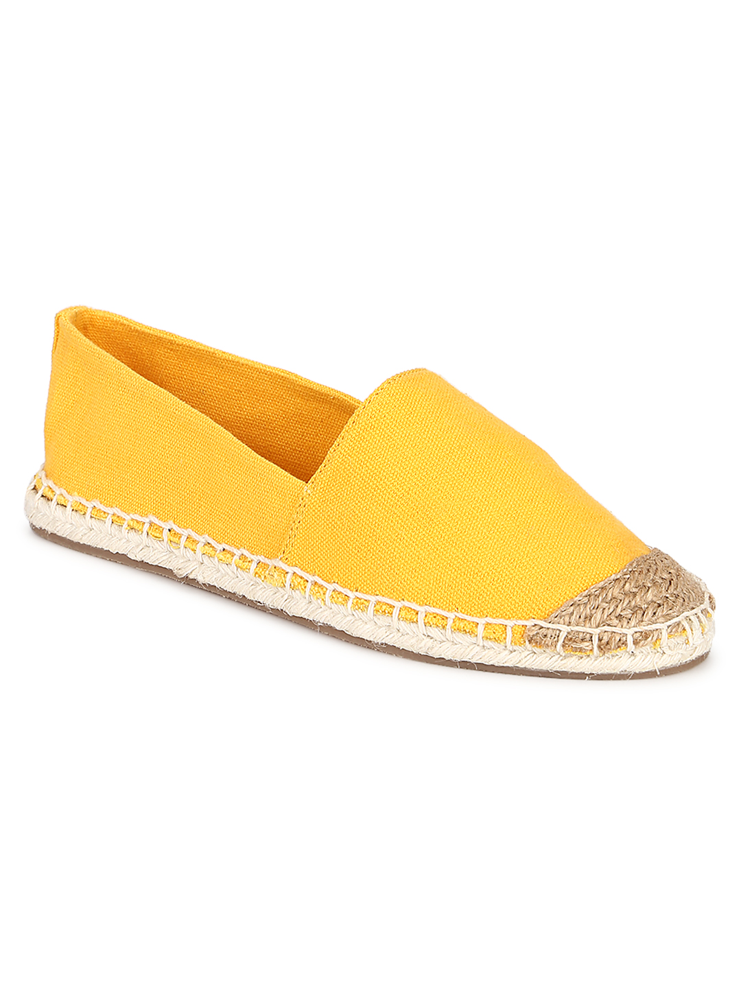 Truffle Collection | Truffle Collection Yellow Canvas Slip On Shoes