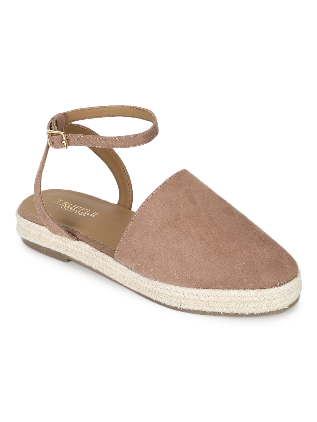 Truffle Collection   Truffle Collection Nude Micro Flat Espadrille Sandals