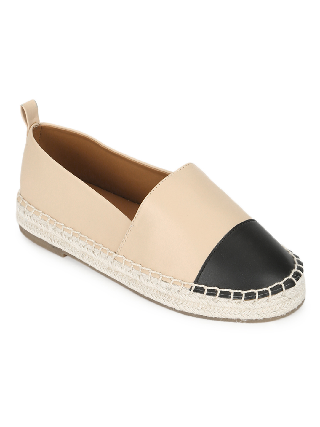 Truffle Collection   Truffle Collection Nude PU Platform Heel Slip On Loafers