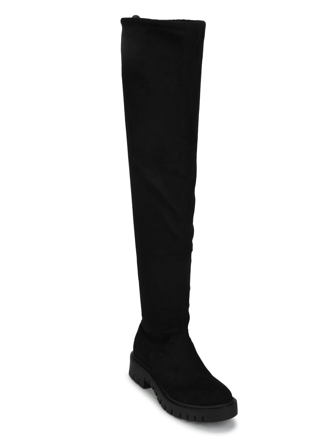 Truffle Collection | Truffle Collection Black Suede Thigh High Boots