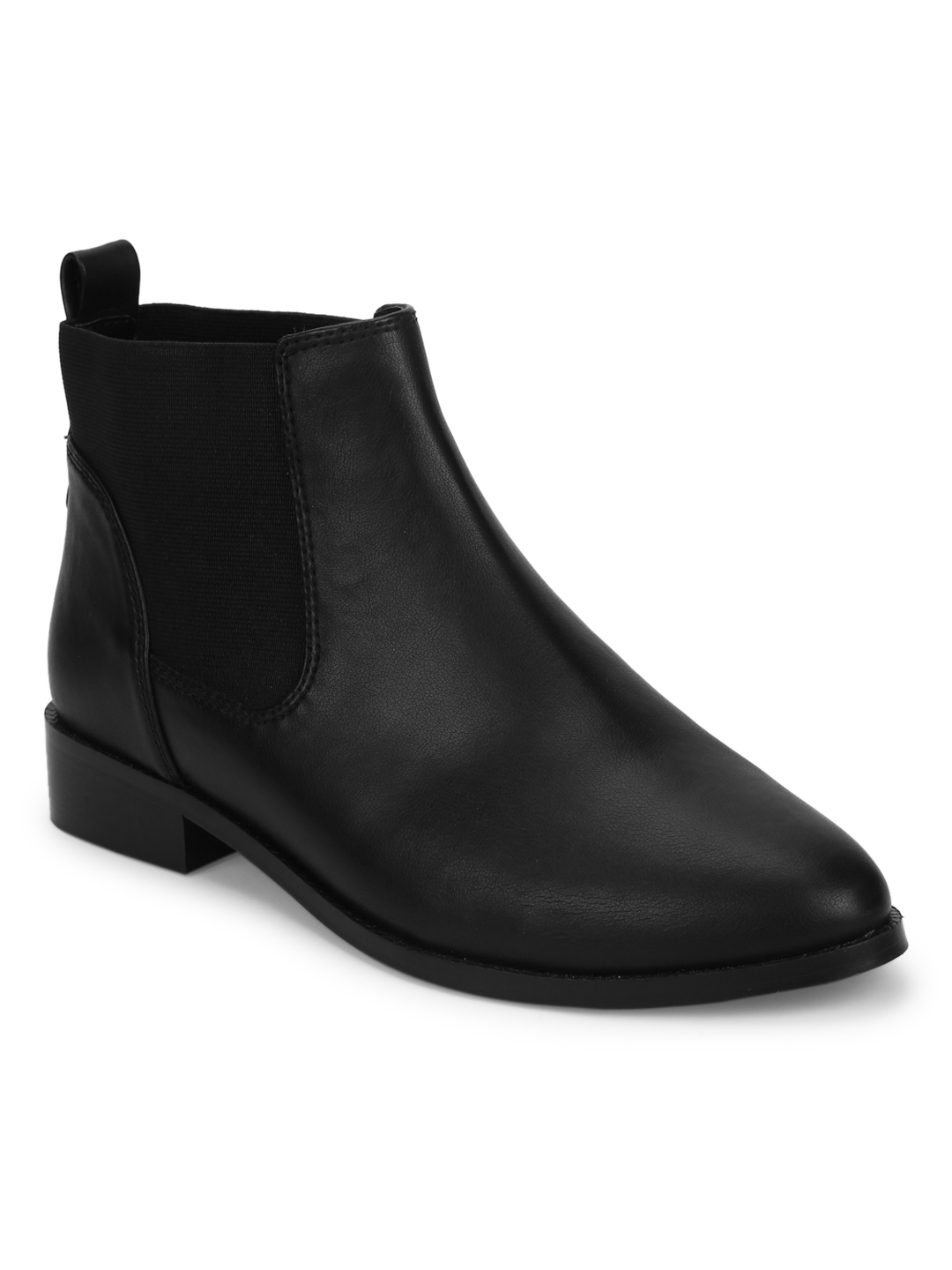 Truffle Collection | Truffle Collection Black PU Chelsea Ankle Boots