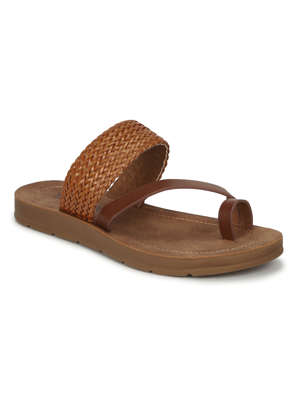 Truffle Collection | Tan PU Flat Slip Ons