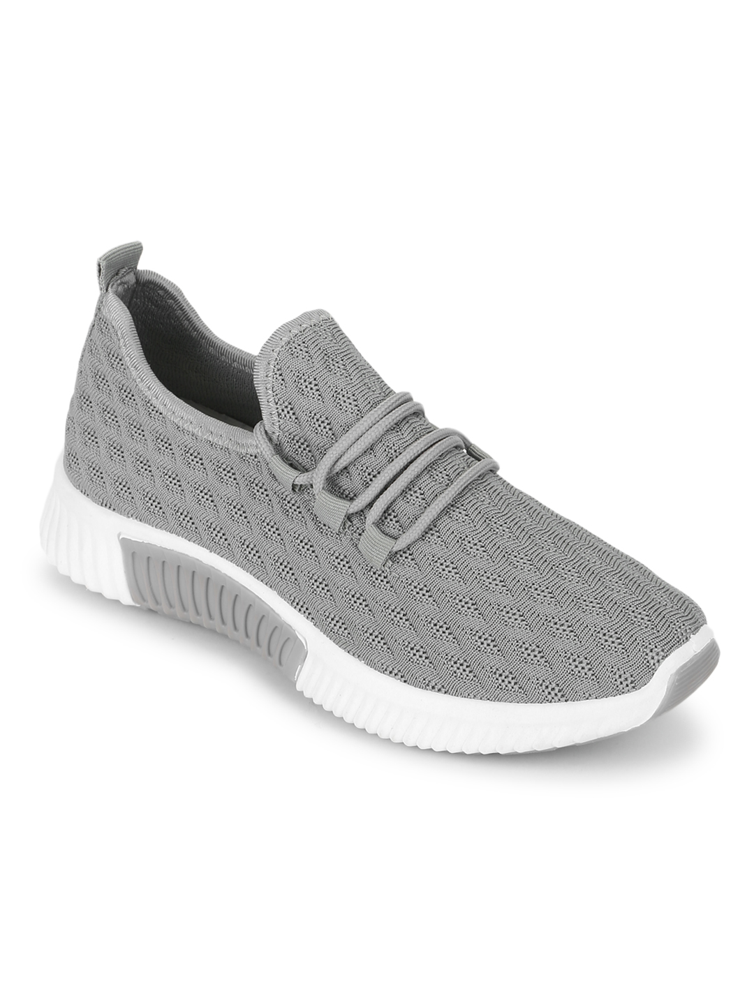 Truffle Collection | Truffle Collection Grey Knitted Slip On Sneakers
