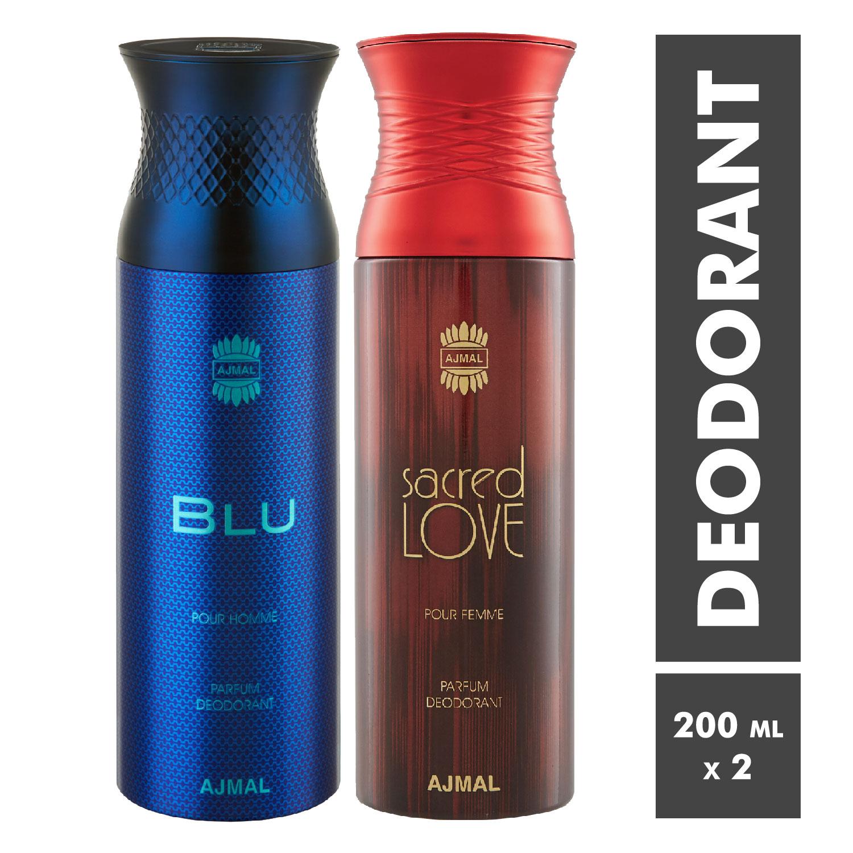 Ajmal | Blu Homme and Sacred Love Deodorant Spray - Pack of 2