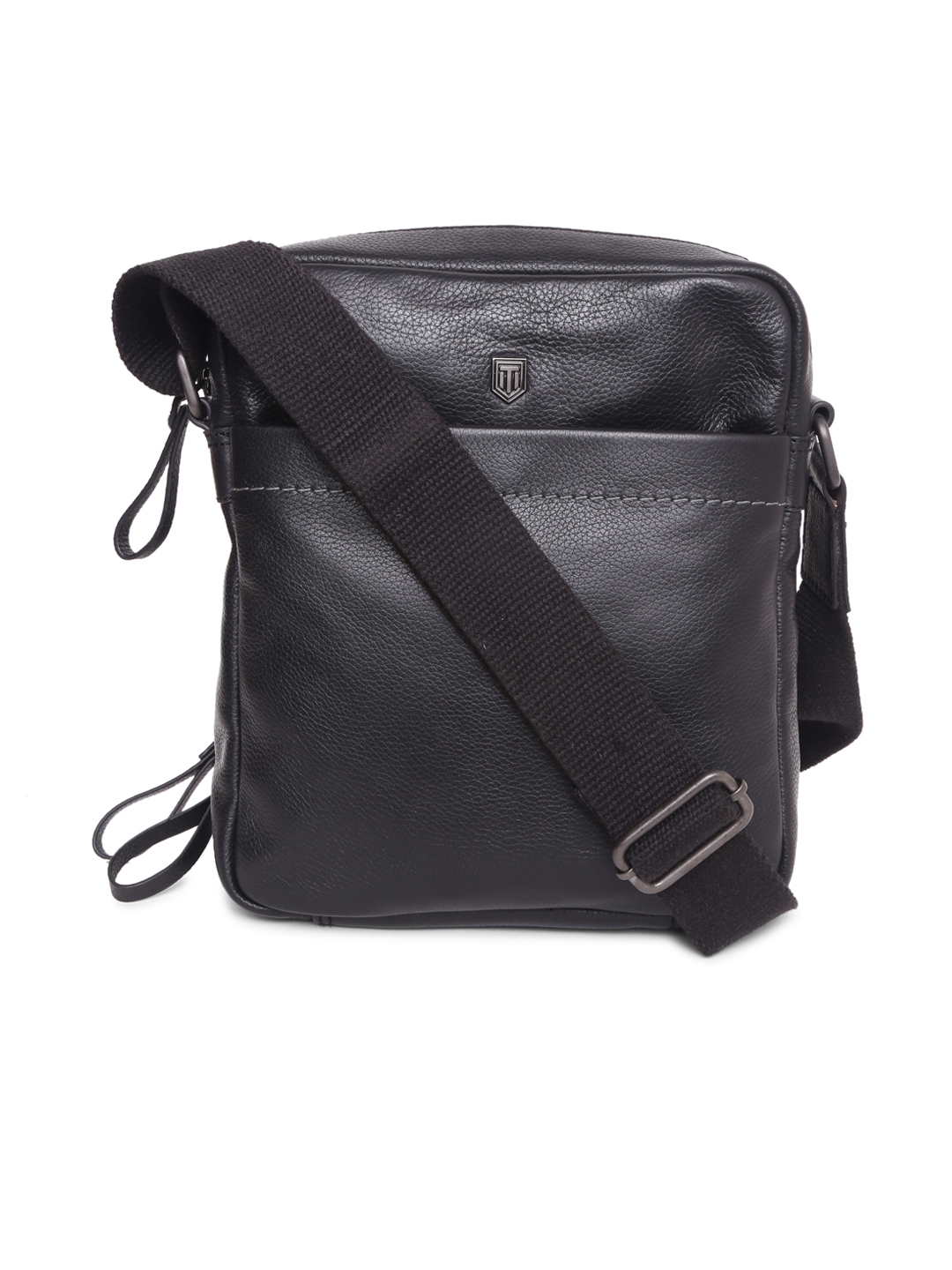 TOM LANG LONDON   TOM LANG LONDON Crossbody With Contrast Stitch Line( Black) For Men and Woman