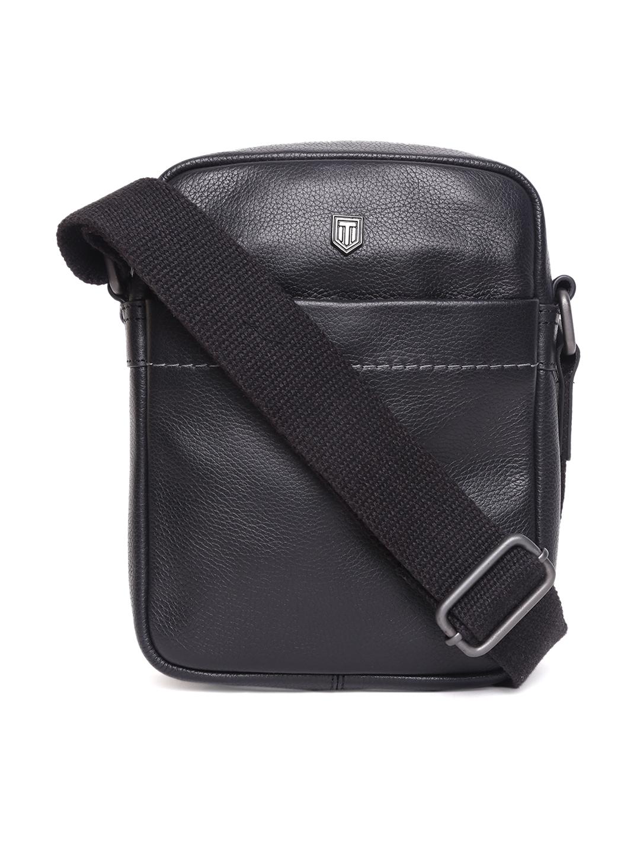 TOM LANG LONDON   TOM LANG LONDON Signature Crossbody Leather Bag( Black) For Men and Woman