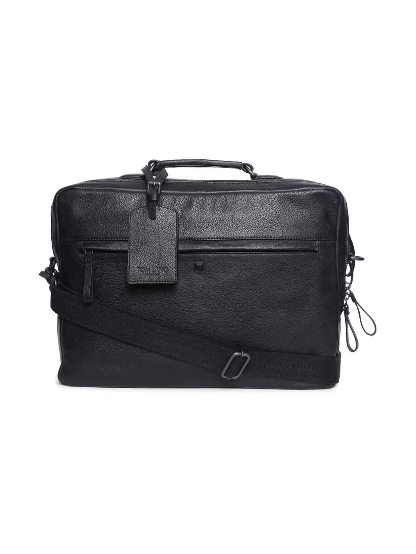 TOM LANG LONDON   TOM LANG LONDON Dual Zip Laptop Bag( Black) For Men and Woman