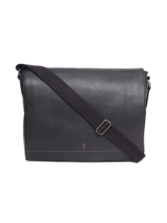 TOM LANG LONDON   TOM LANG LONDON Portfolio Messenger Bag( Black) For Men and Woman