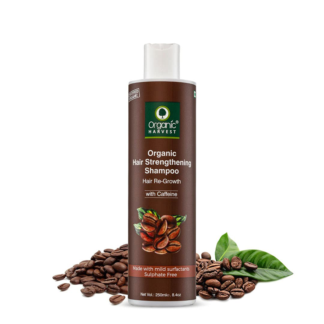 Organic Harvest | Organic Harvest Coffee Shampoo For Hair Fall Control & Hair Growth, Coffee to Gain Strength in Hair, 250 ml