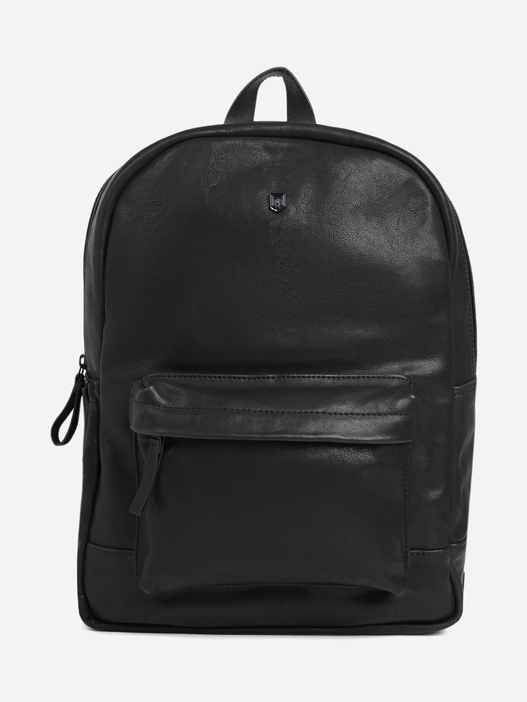 TOM LANG LONDON   TOM LANG LONDON LEATHER BACKPACK WITH FRONT AND SIDE POCKET