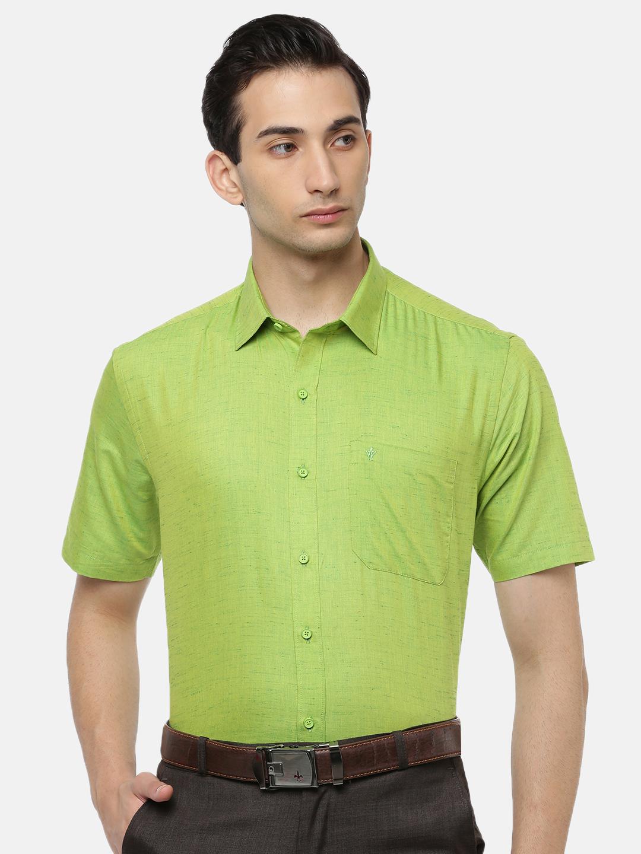 Ramraj Cotton   RAMRAJ COTTON Men's Yellow Green Traditional Shirt
