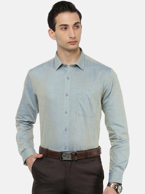 Ramraj Cotton   RAMRAJ COTTON Men's Lt.Cyan Traditional Shirt