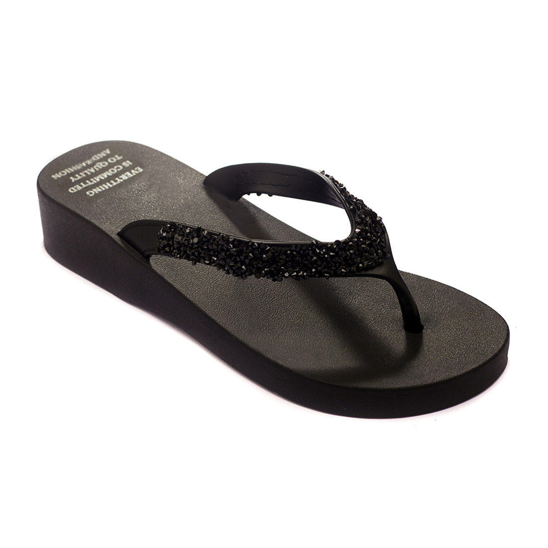Trends & Trades   TRENDS & TRADES Black Thong Flip Flops For Women