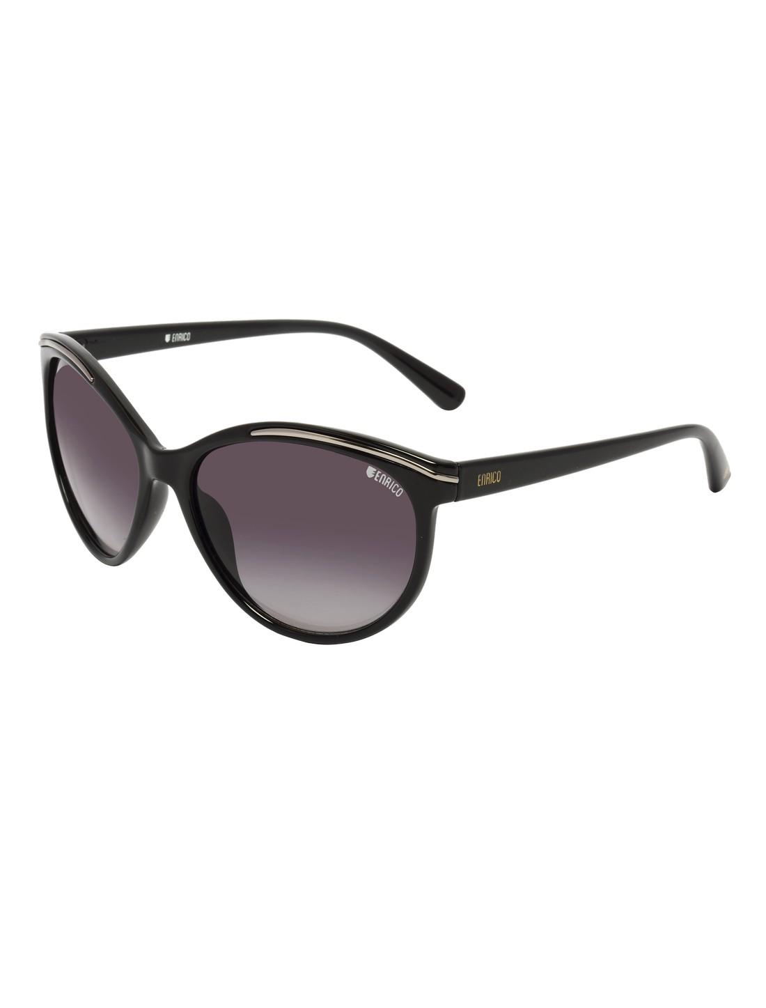 ENRICO   ENRICO Hazard UV Protected Cateye Sunglasses for Women ( Lens - Purple   Frame - Black)