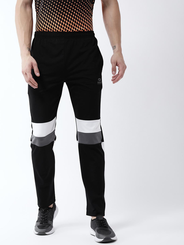 Masch Sports | Masch Sports Men's Black, White & Grey Trackpant