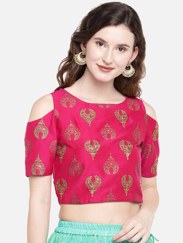 Ethnicity | Ethnicity Fuchsia Silk Slub Women Top