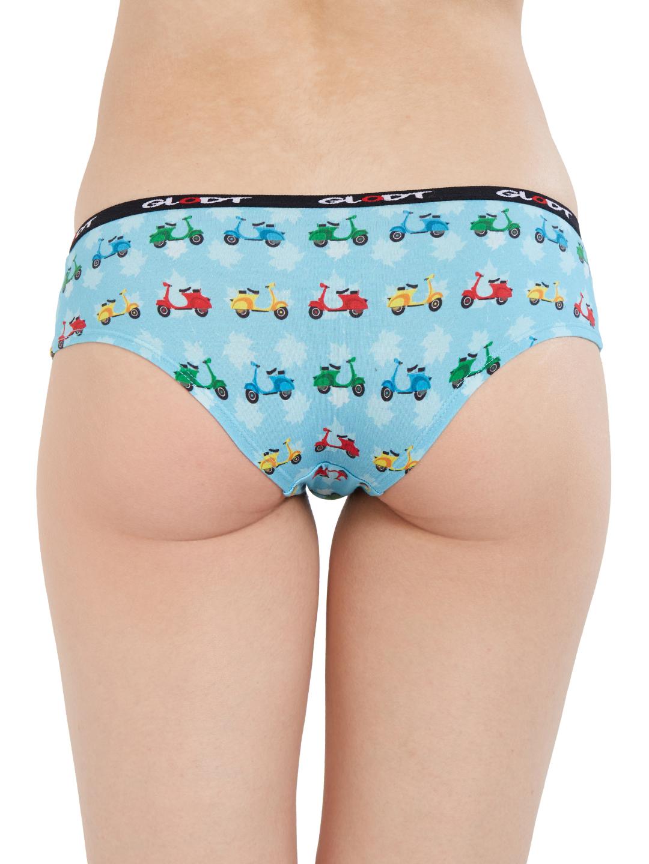 GLODT | Womens Girls Scooter Print Pima Cotton Hipster Panties
