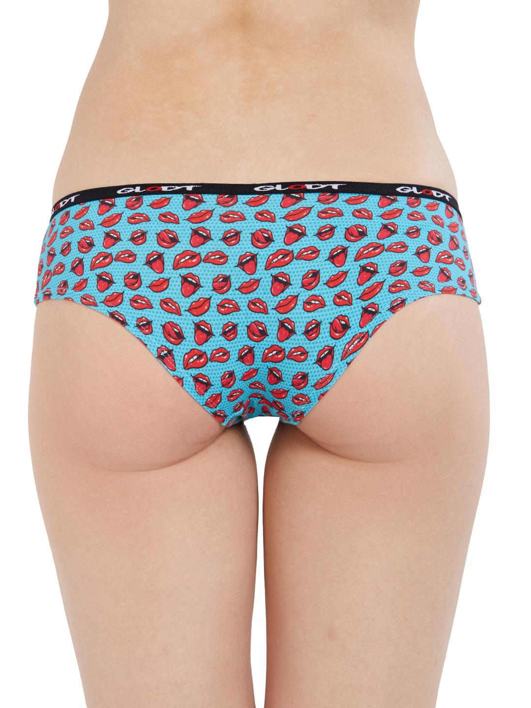 GLODT | Womens Girls Hot Lips Print Pima Cotton Hipster Panties