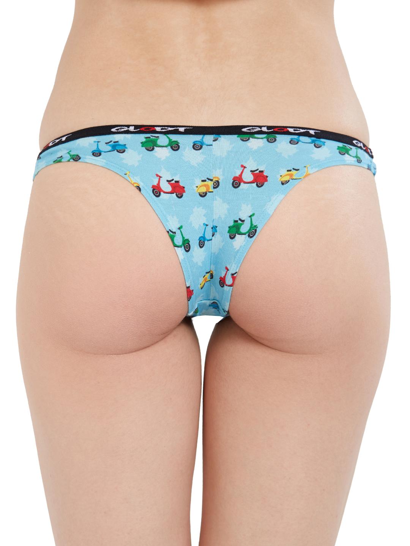 GLODT | Womens Girls Scooter Print Pima Cotton Bikini Panties