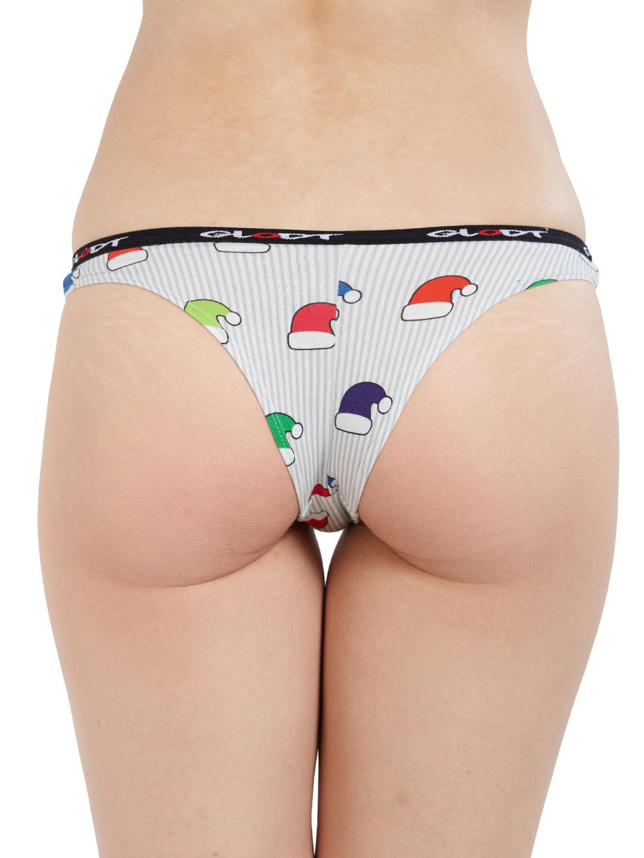 GLODT | Womens Girls Party Hats Print Pima Cotton Bikini Panties