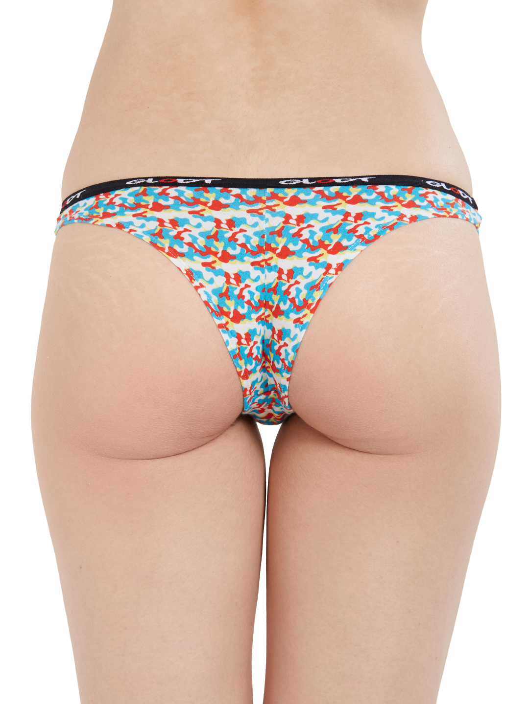 GLODT | Womens Girls Camouflage Print Pima Cotton Bikini Panties