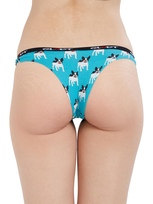 GLODT | Womens Girls French Bulldog Print Pima Cotton Bikini Panties