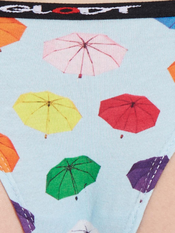 GLODT | Womens Girls Umbrella Print Pima Cotton Bikini Panties