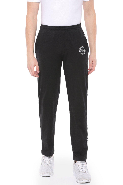 Unibro | Unibro Men's  Cotton Casual Black Track  Pant