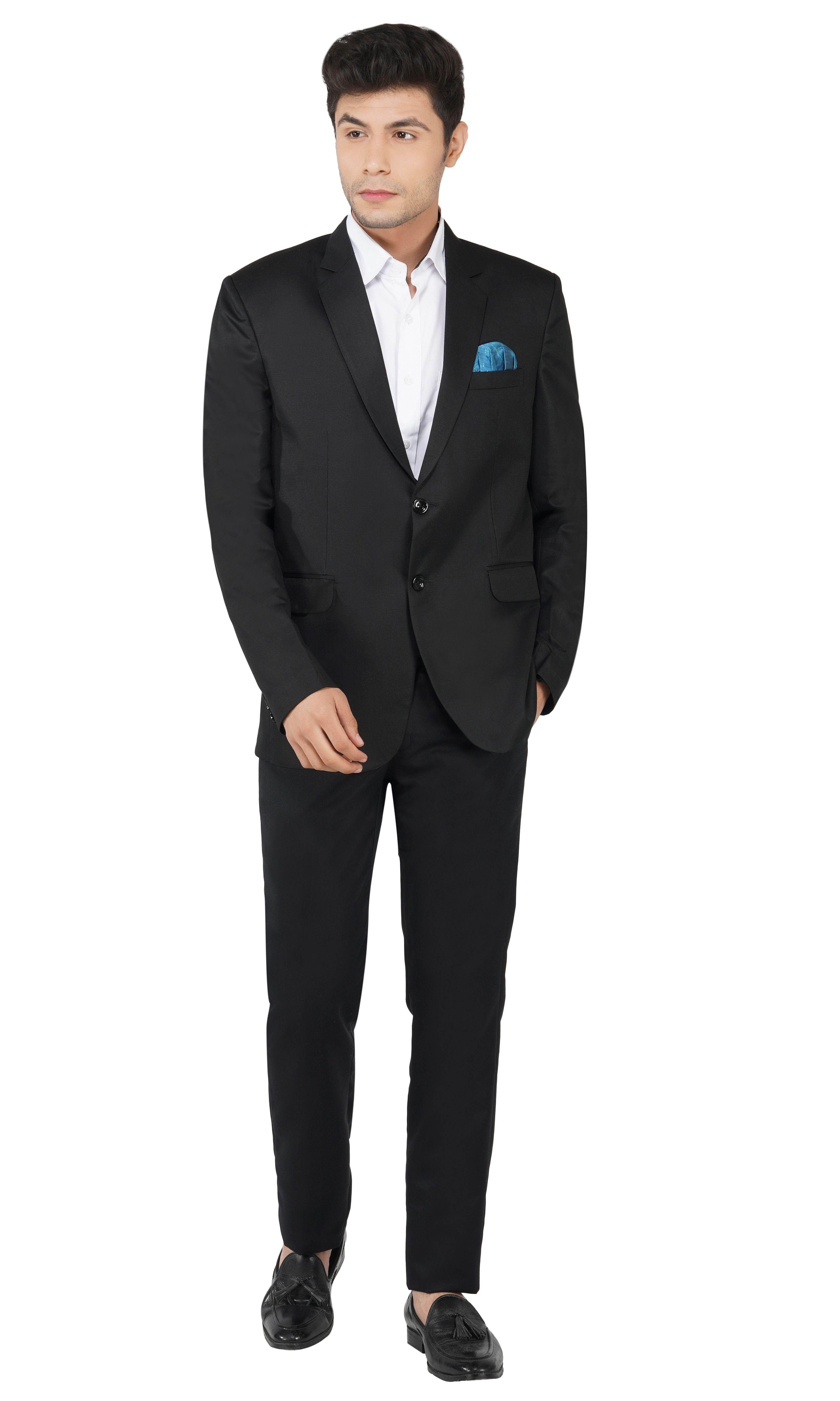TAHVO | Black Men Notched Lapel Suit