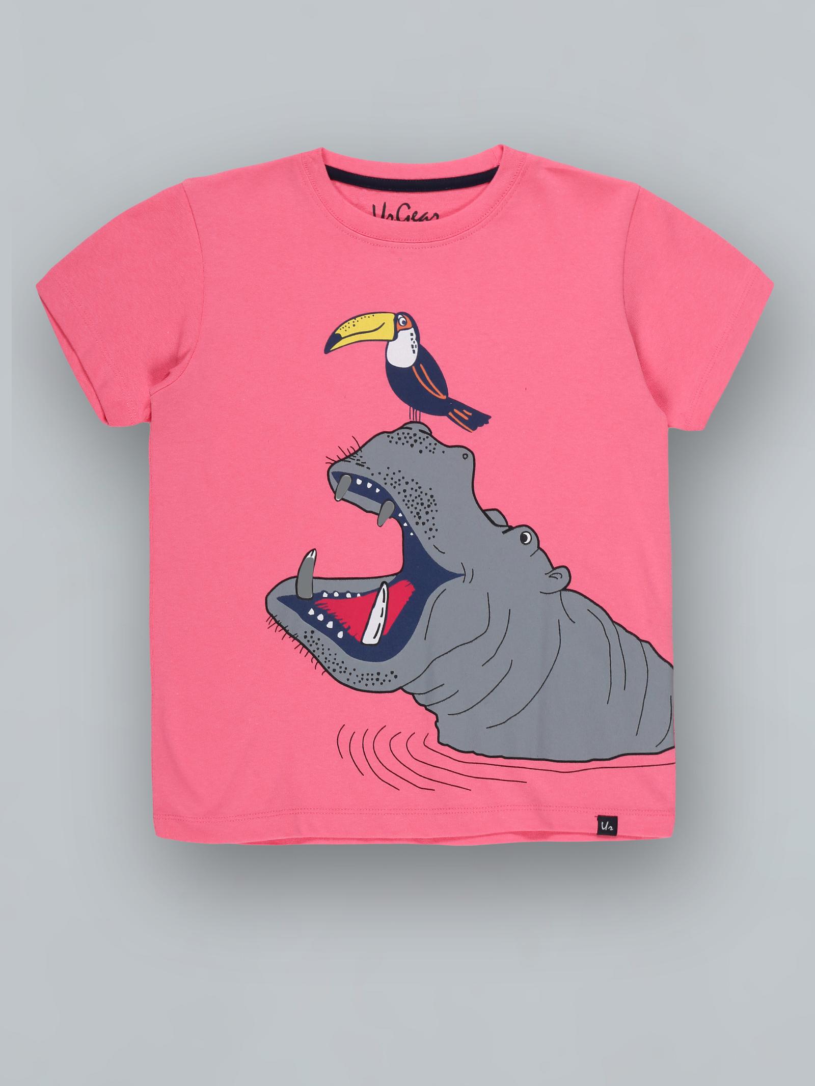 UrGear   UrGear Boys Animal Print Pure Cotton T Shirt