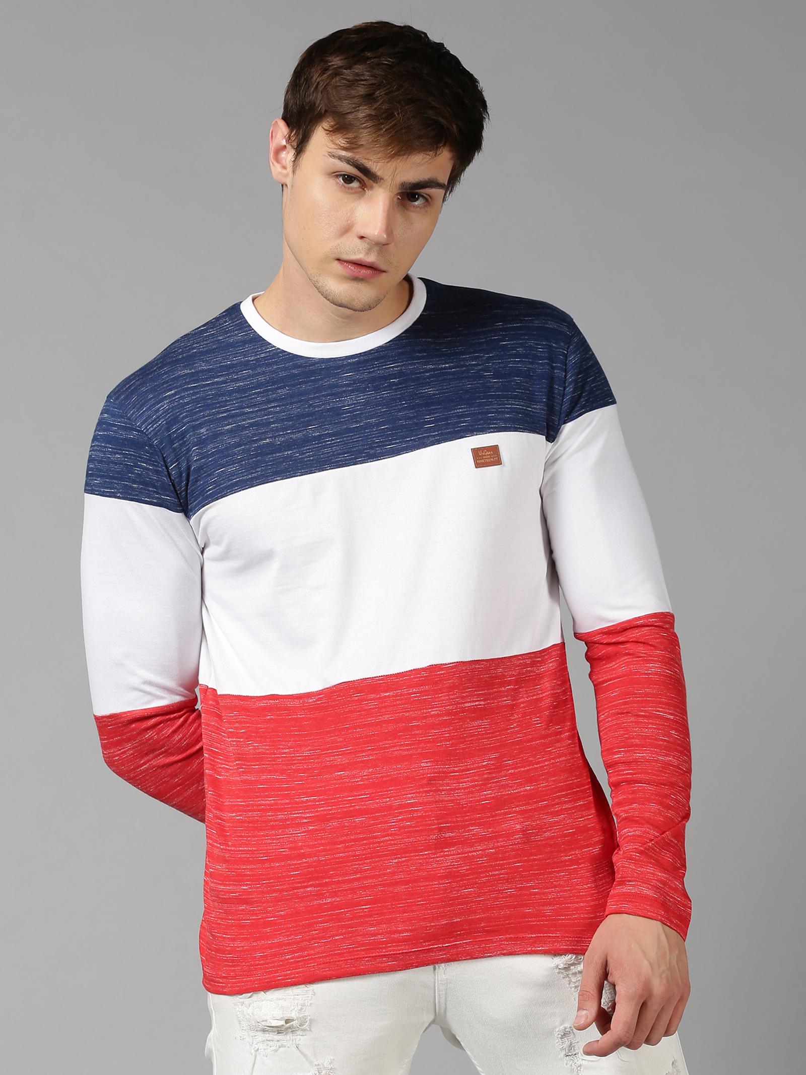 UrGear   UrGear Color Block, Tie & Dye Men Round Neck Multicolor T-Shirt