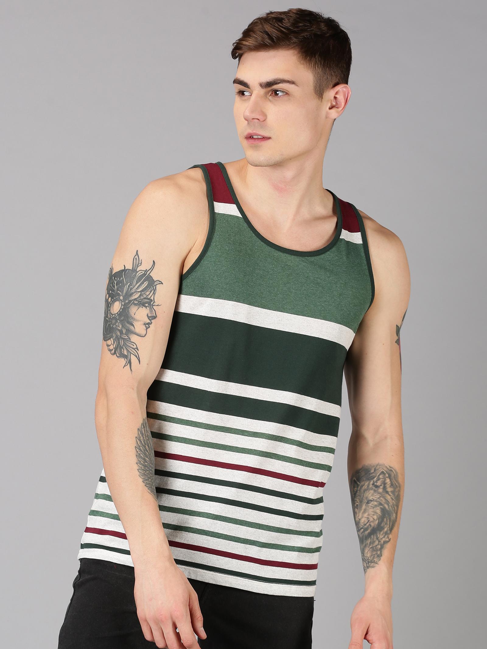 UrGear   UrGear Striped Men Round Neck Multicolor T-Shirt