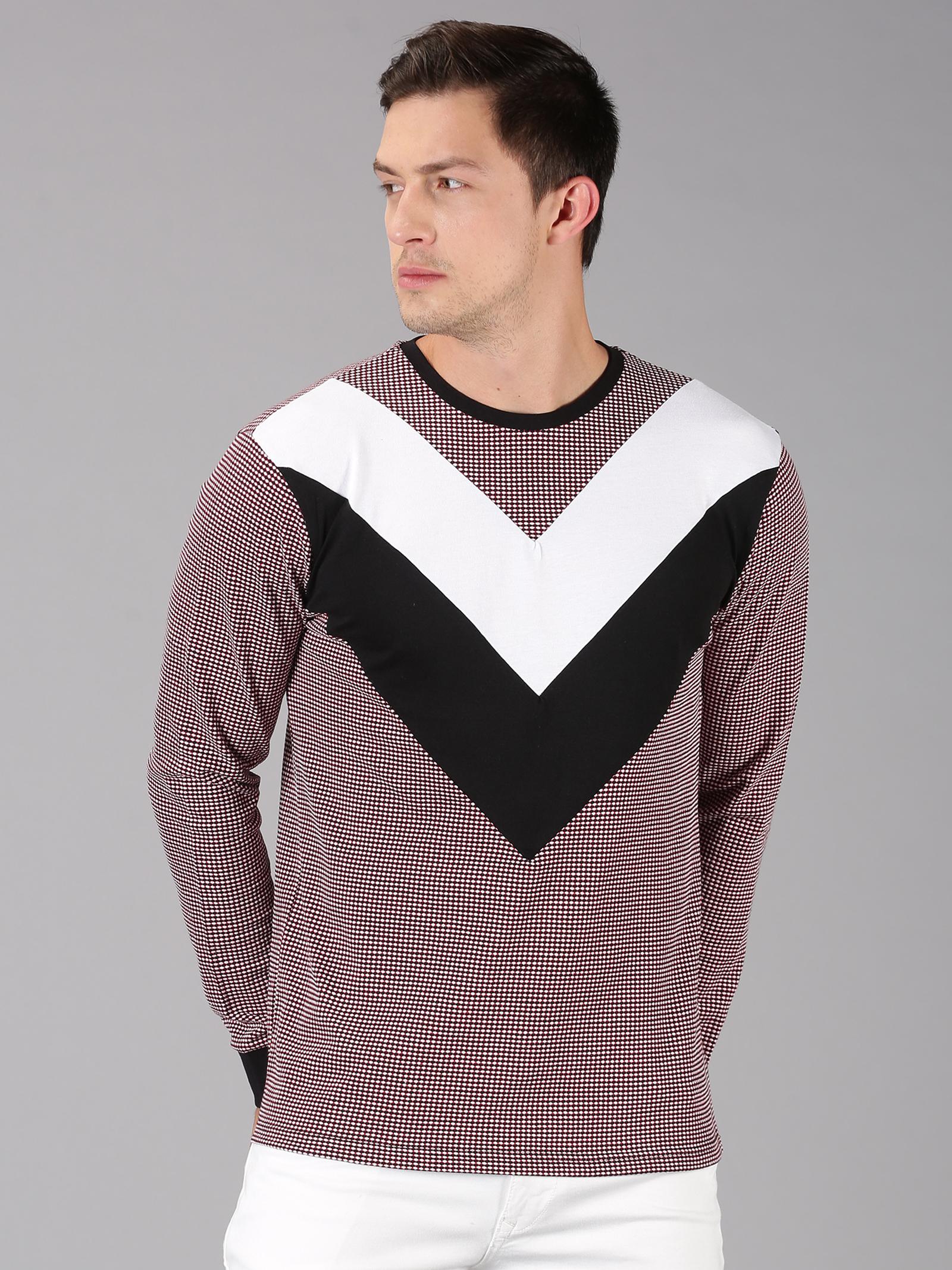 UrGear | UrGear Color Block Men Round Neck Black T-Shirt