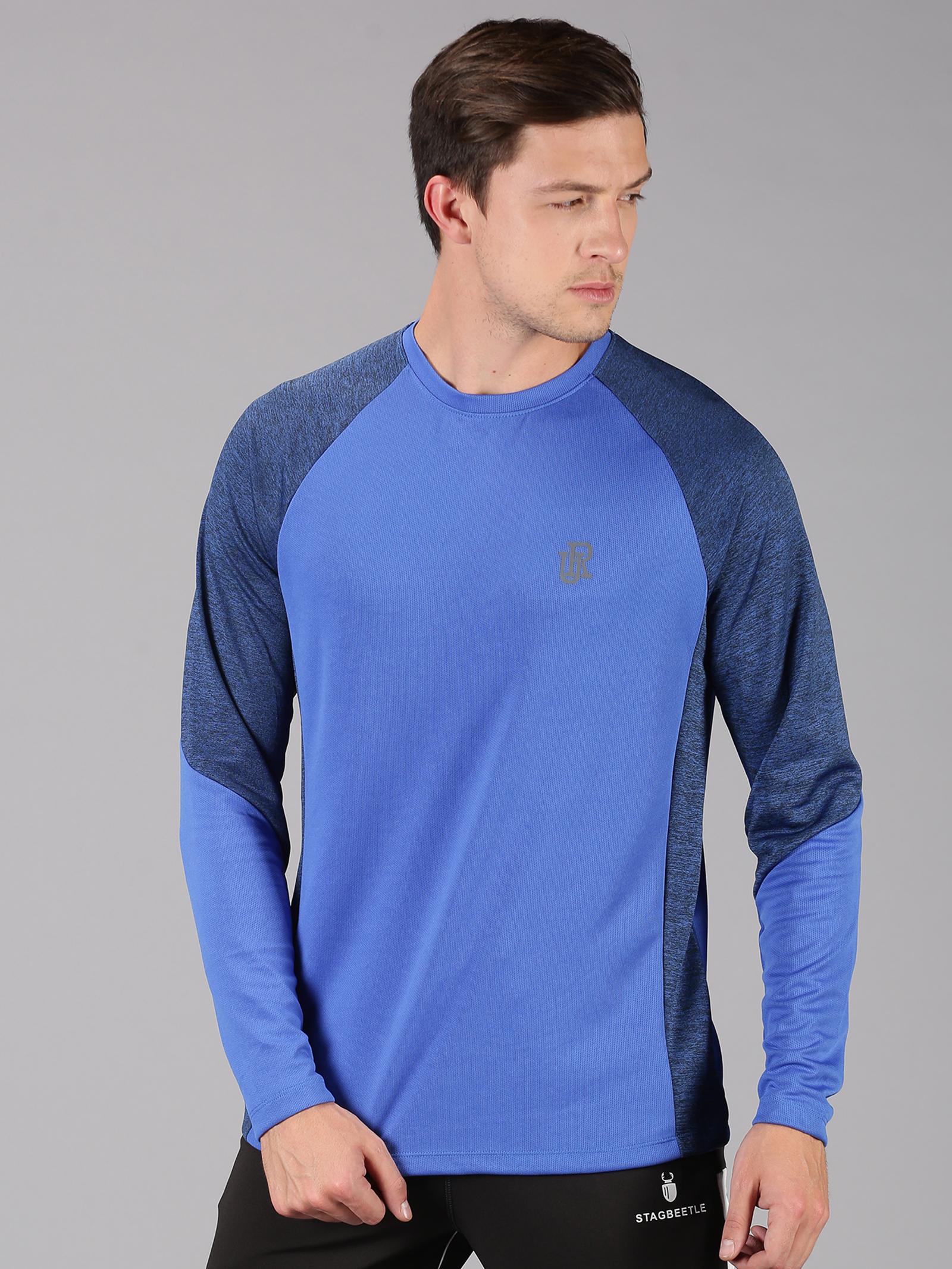 UrGear   UrGear Color Block Men Round Neck Blue T-Shirt
