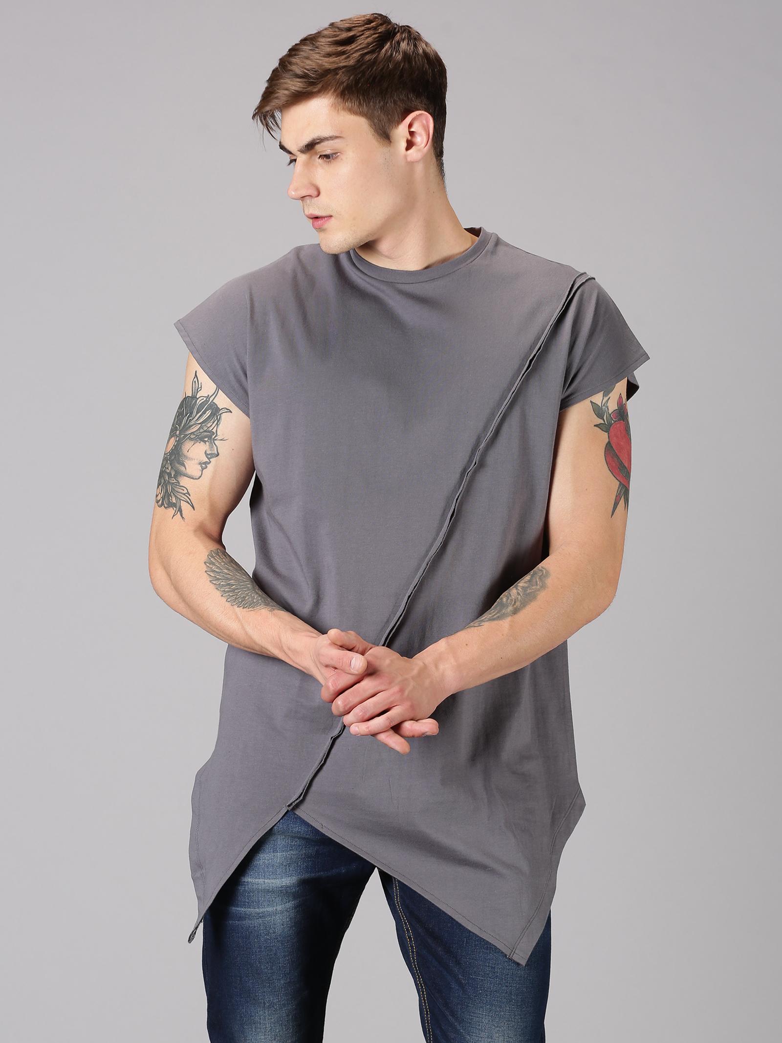 UrGear | UrGear Solid Men Round Neck Grey T-Shirt