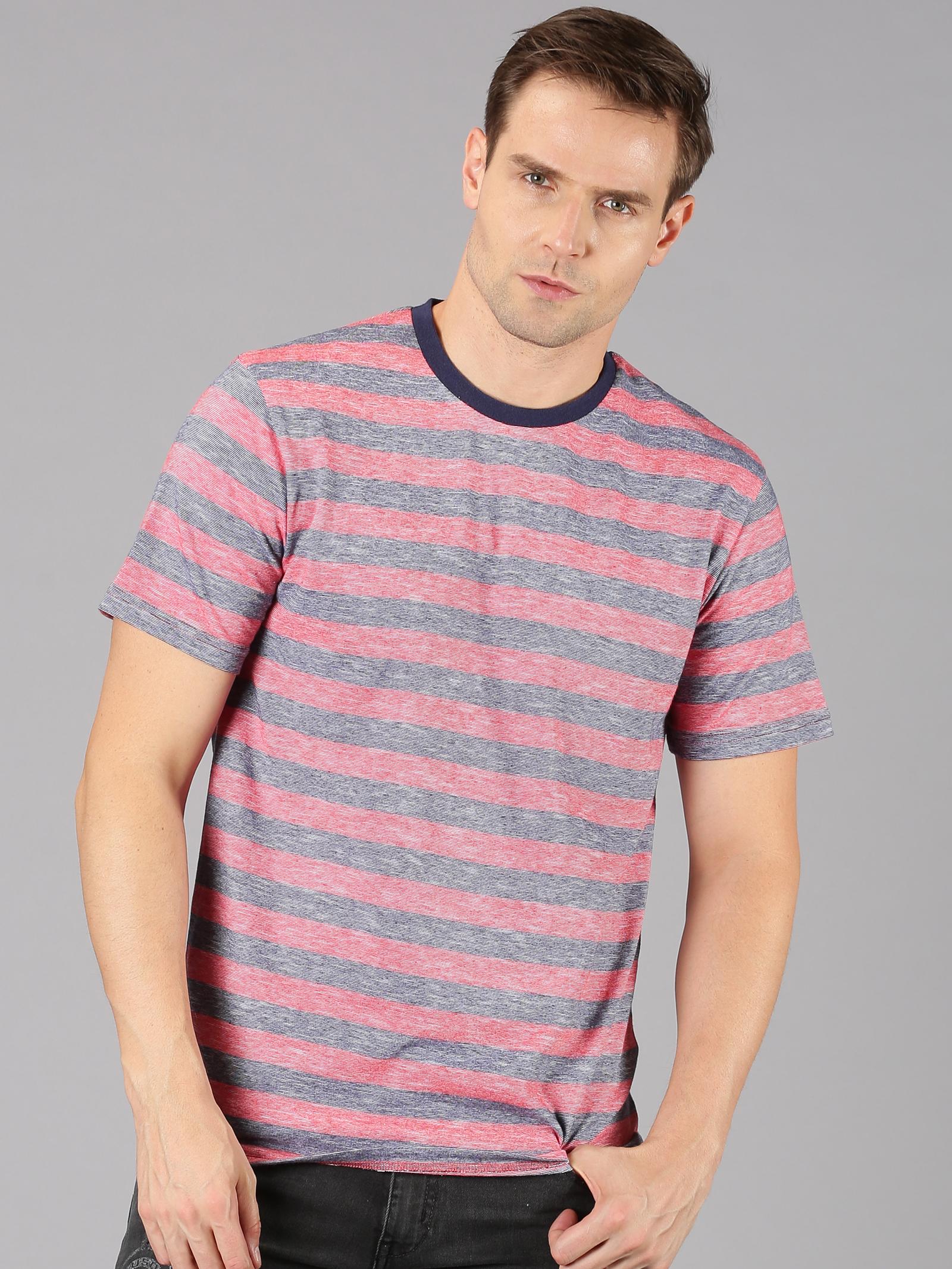 UrGear | UrGear Striped Men Round Neck Multicolor T-Shirt