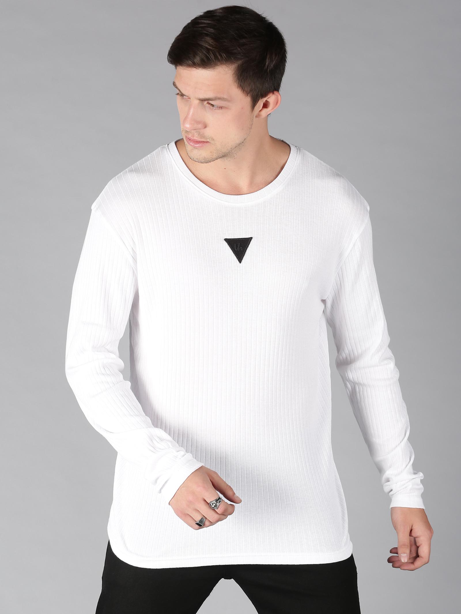 UrGear | UrGear Solid Men Round Neck White T-Shirt