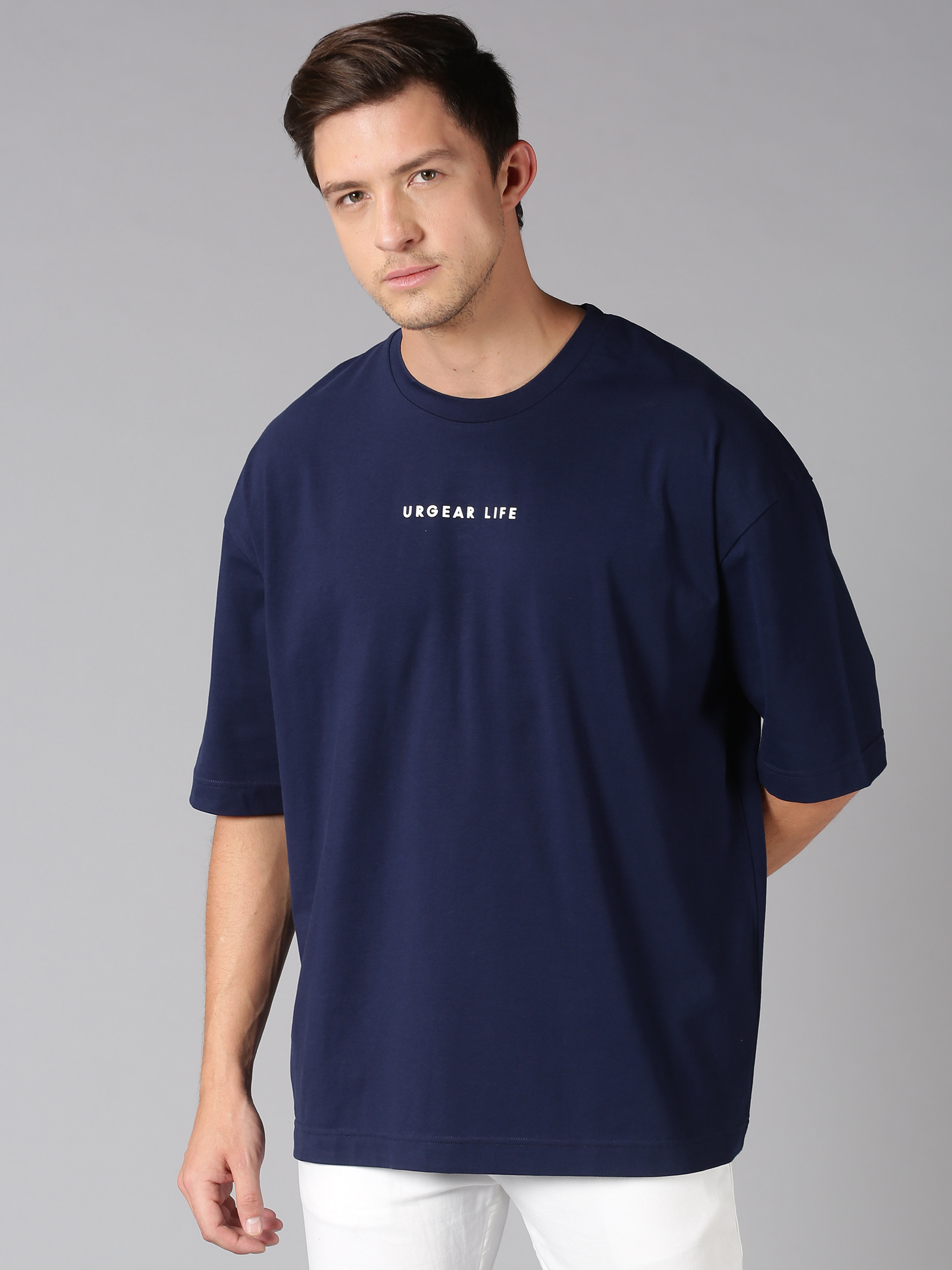 UrGear | UrGear Men Oversized Dark Blue T-Shirt