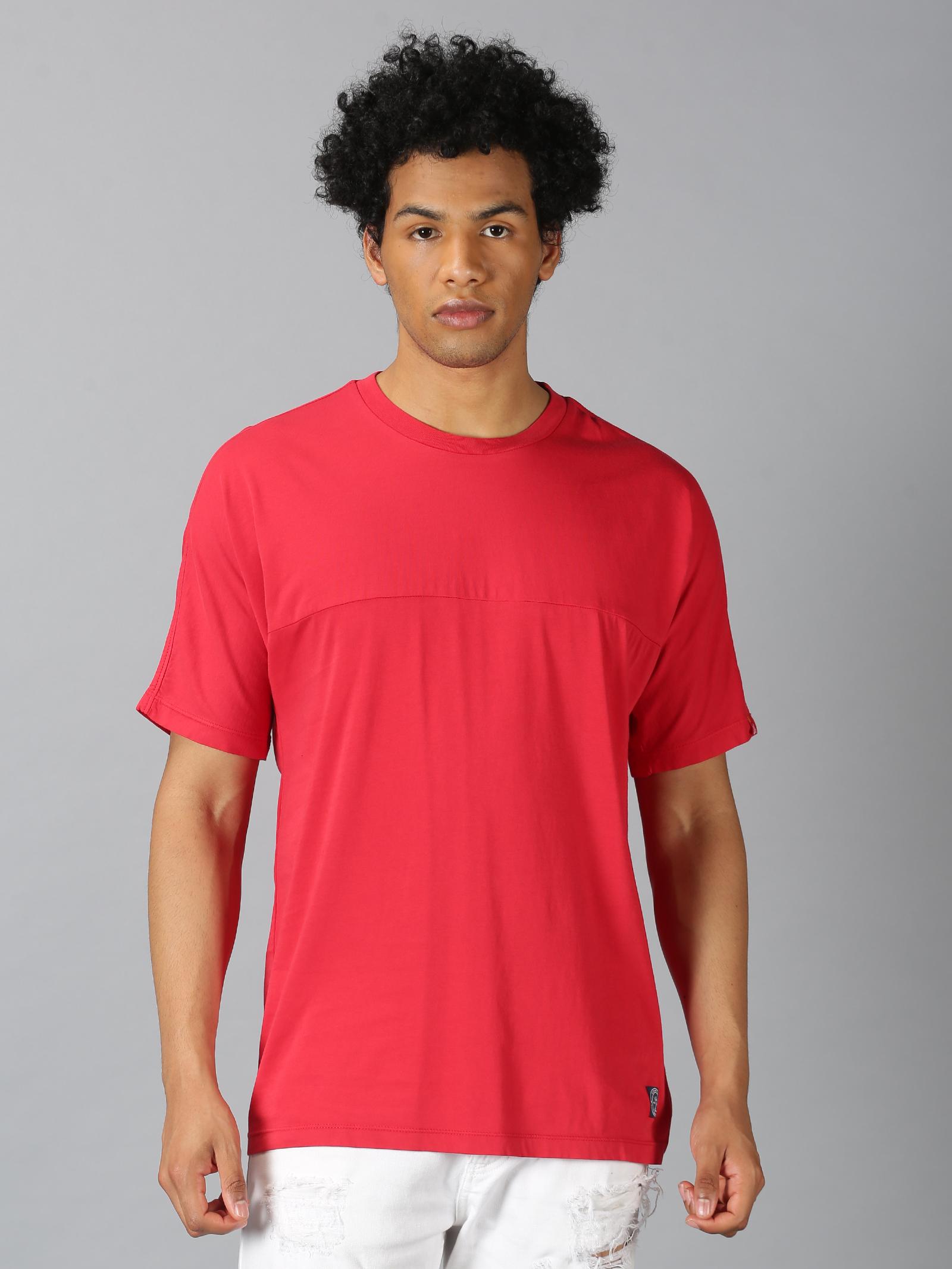 UrGear | UrGear Solid Men  Round Neck Red T-Shirt
