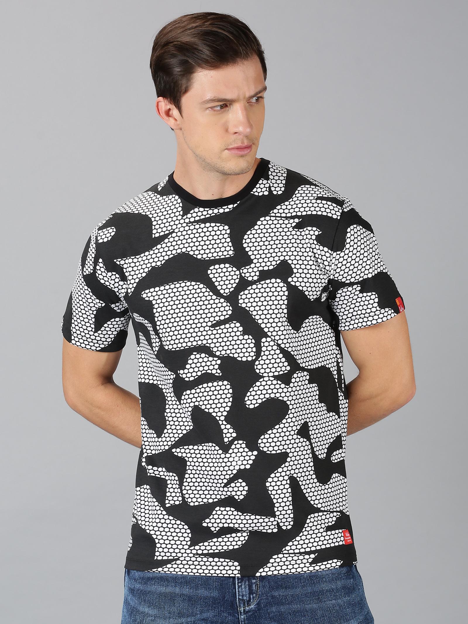 UrGear | UrGear Printed Round Neck White T-Shirt