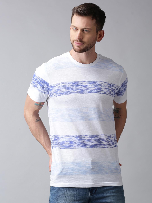UrGear | UrGear Printed Men Round Neck Blue T-Shirt