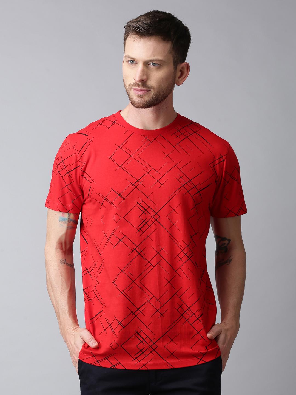 UrGear | UrGear Printed Men Round Neck Red T-Shirt