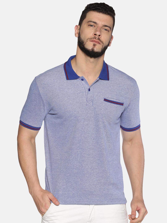 UrGear | UrGear Solid Men PoloLight Blue Tipping T-Shirt