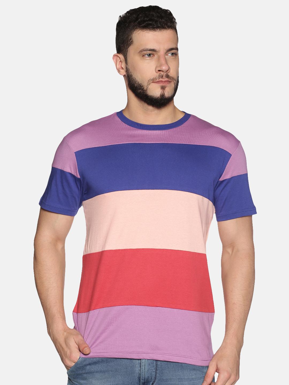 UrGear | UrGear ColorBlock Men Round Neck MultiColour T-Shirt
